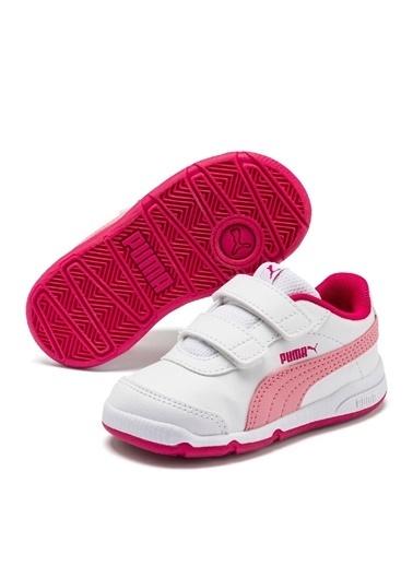 Puma Puma 19252316 Stepfleex Beyaz - Pembe Kız Bebek Yürüyüş Ayakkabısı Beyaz